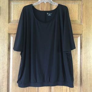 Lane Bryant Black Loose-Fit Top 22/24